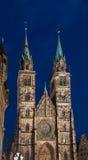 Nuremberg-Tyskland-StLawrence kyrka (Lorenzkirche) royaltyfria foton