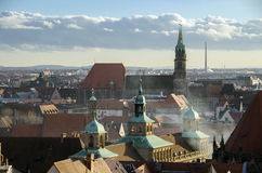 Nuremberg view. View of nuremberg from the castle Royalty Free Stock Photography