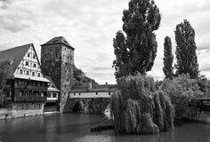 Nuremburg. A canal in Nuremburg Bavaria, Germany stock photography