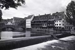 Nuremburg Canal Royalty Free Stock Photo