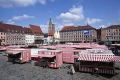Nuremburg Market. The market held in Nuremburg square Royalty Free Stock Photography