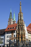 Nuremburg Monument. With the cathedral in the background Royalty Free Stock Image