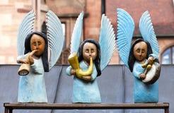 NURENBERG, ALEMANHA - 3 DE JANEIRO DE 2012: Anjos do Natal Foto de Stock Royalty Free