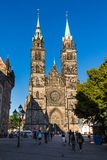 Exterior view of St. Lawrence church in the old town part of Nur Royalty Free Stock Image