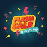 Flash Sale Poster Template Designs stock illustration