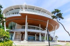 Nurimaru APEC-Haus finden auf Insel Haeundae Dongbaekseom in Busan, Südkorea lizenzfreie stockfotos