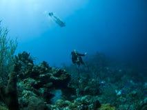 nurków akwalungu underwater Obrazy Royalty Free