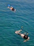 nurka morze dwa Zdjęcia Royalty Free