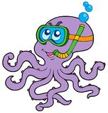 nurka ośmiornicy snorkel Obraz Royalty Free