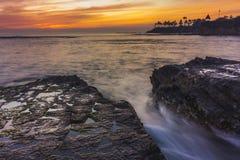 Nurka ` s zatoczki zmierzch Fotografia Stock