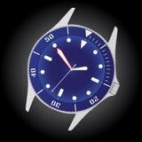 Nurka zegarka skrzynka eps10 i tarcza Zdjęcia Royalty Free