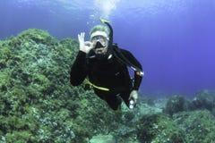 Nurkować w morzu śródziemnomorskim - Majorca zdjęcie royalty free