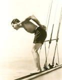 Nurkować z łodzi Zdjęcie Stock