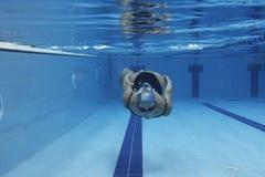 nurkowa kobieta Fotografia Royalty Free