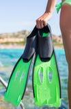 Nurkowi gogle, snorkel i snorkeling żebra przy, Obrazy Royalty Free