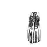 Nurkowy but Obrazy Stock
