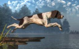 Nurkowy pies royalty ilustracja