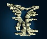 Nurkowy sporta pojęcie ilustracja wektor
