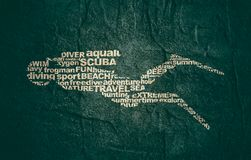 Nurkowy sporta pojęcie ilustracji