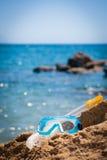 Nurkowy wyposażenie: maska i snorkel obrazy stock