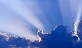 Nurkujący przeciw niebieskiemu niebu Zdjęcia Stock