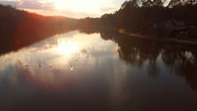 nurkuje jezioro Fotografia Royalty Free