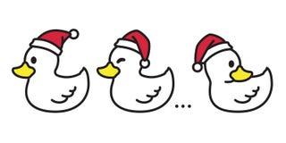 Nurkuje wektorowej Bożenarodzeniowej wektorowej Święty Mikołaj Xmas ikony logo kapeluszowej postaci z kreskówki ilustracyjnego bi ilustracji