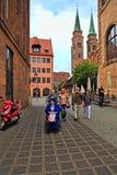 NURNBERG,德国- 2014年7月13日:轮椅的游人在 免版税库存照片