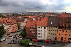 NURNBERG,德国- 2014年7月13日 纽伦堡Cityescape, Germa 库存图片