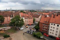 NURNBERG,德国- 2014年7月13日 纽伦堡Cityescape, Germa 免版税库存照片