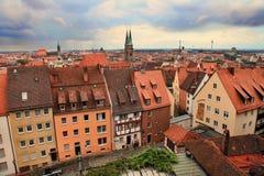 NURNBERG,德国- 2014年7月13日 都市风景纽伦堡 库存图片