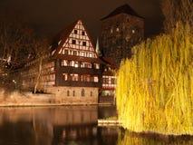 Nurnberg alla notte Immagine Stock