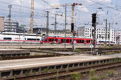 Nurnberg bahnhof - Nurnberg train station Stock Photo