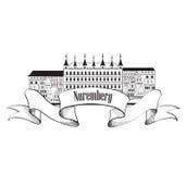 Nurnberg City symbol.  Travel Germany label. Stock Photo