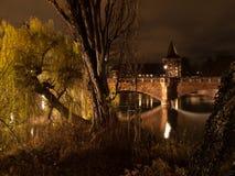 Nurnberg en la noche Imagen de archivo libre de regalías