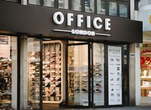 Nurnberg, Germany - April 5, 2018: Office London shop on the street in Old Town Altstadt stock photography