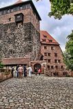 NURNBERG, GERMANY - JULY 13 2014. View at the famous  Kaiserburg Royalty Free Stock Image