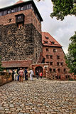 NURNBERG, GERMANY - JULY 13 2014. View at the famous  Kaiserburg Royalty Free Stock Photography