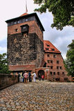 NURNBERG, GERMANY - JULY 13 2014. View at the famous  Kaiserburg Royalty Free Stock Images