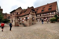NURNBERG, GERMANY - JULY 13 2014.View at the famous  Kaiserburg Imperial Castle in Nuremberg, Germany Stock Photos