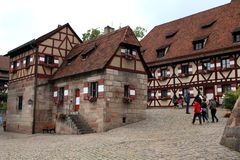 NURNBERG, GERMANY - JULY 13 2014.View from Houses in Kaiserburg Royalty Free Stock Photos