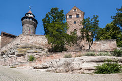 Nurnberg miasta ścienna sekcja Obraz Stock