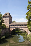 Nurnberg old bridge-portrait orientation Royalty Free Stock Photos