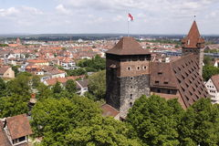 Nurnberg panorama Stock Images