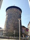 Nurnberg. Tower. Wall. Achitecture. History Stock Images