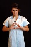 Nurse. With injection Royalty Free Stock Photography