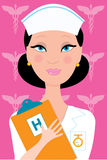 Nurse. Female nurse in uniform holding a clipboard Royalty Free Stock Photography