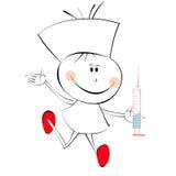 A nurse. Cartoon style illustration of a nurse vector illustration