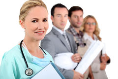 Nurse. And three other occupations Stock Photos