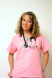 The Nurse. A nurse gets ready for her shift duties Royalty Free Stock Photo